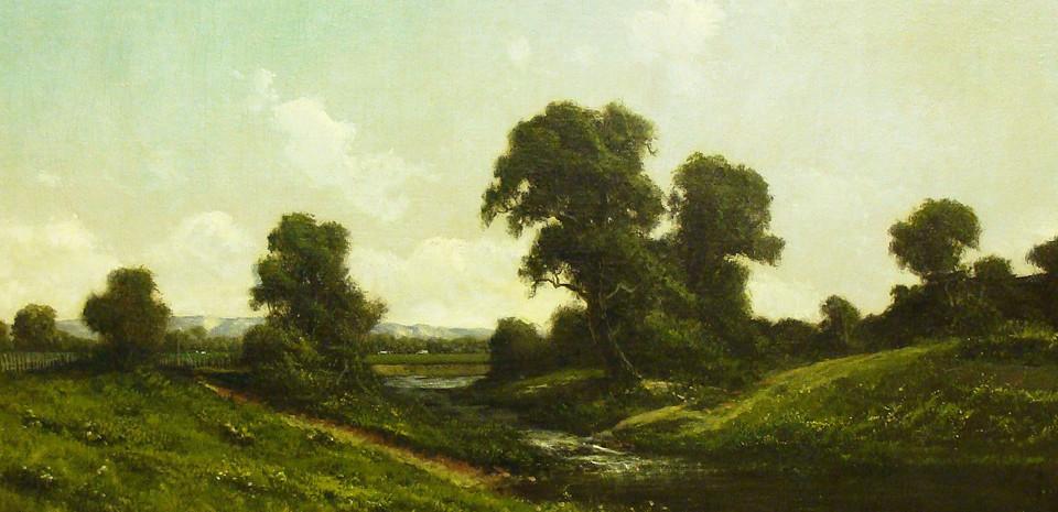 Ransom G. Holdredge, Sacremento Valley Delta, oil painting