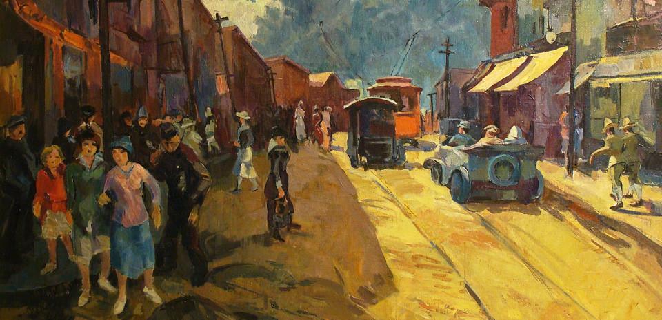 Willheim, oil painting, Colorful Street Scenes