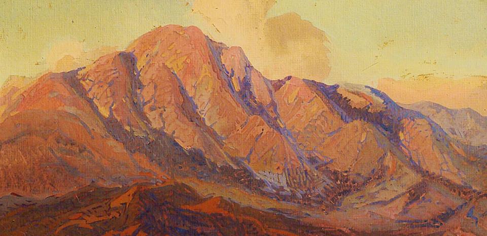 Fredrick Grayson Sayre Sunset over Santa Paula Mountains