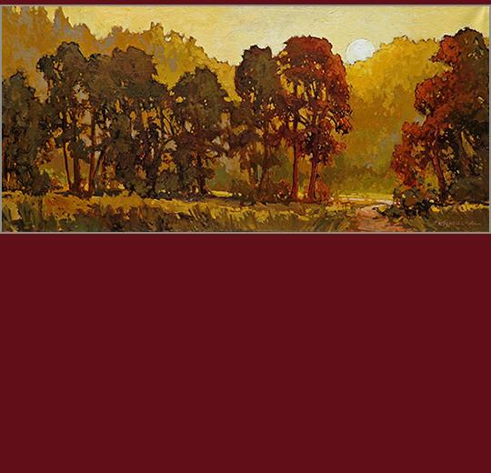 Jan Schmuckal Golden Sunset Painting