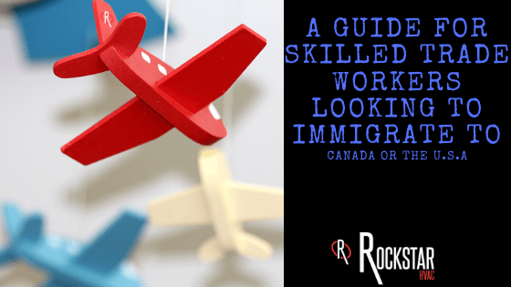 A Guide for Skilled Trade Workers Looking to Immigrate to Canada or the U.S.A Picture: blue and red toy planes