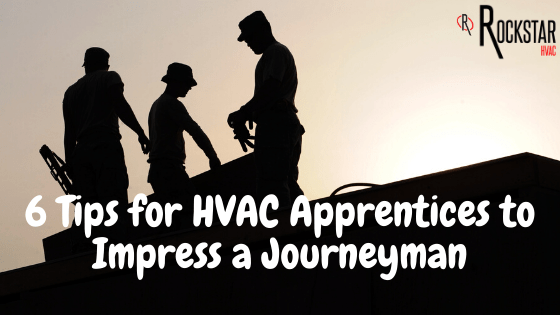 6 Tips for HVAC Apprentices to Impress a Journeyman Picture: 3 silhouettes of men on roof