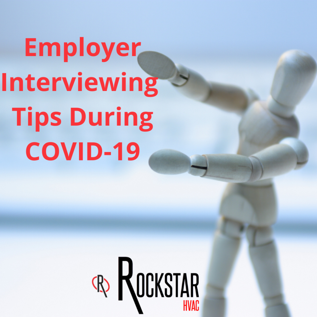 IG Blog- Employer Interviewing Tips During COVID19 Picture: grey toy in front of keyboard pointing to title