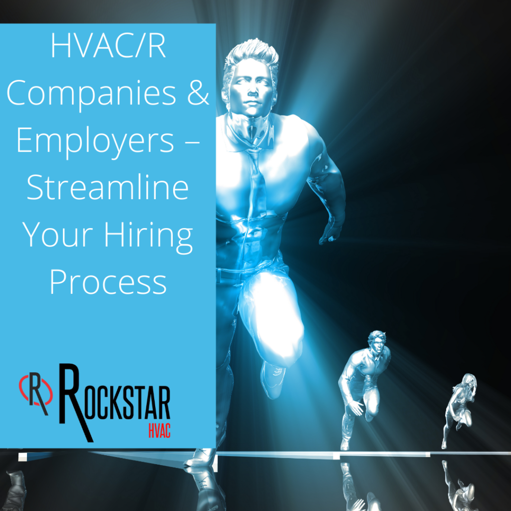 HVAC/R Companies & Employers – Streamline Your Hiring Process Image- light blue male and female runners in business suit