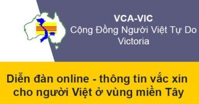 CĐNVTD/VIC: Diễn đàn về chích ngừa dịch COVID-19 cho người Việt ở vùng miền Tây