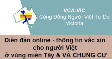 Victoria: Buổi họp về chích ngừa dịch cho người Việt ở vùng miền Tây và chung cư