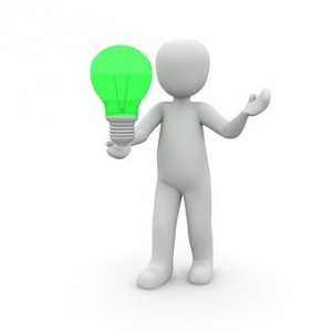 large green light bulb