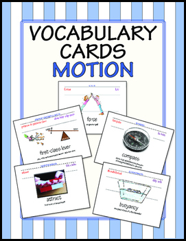 words cards motion