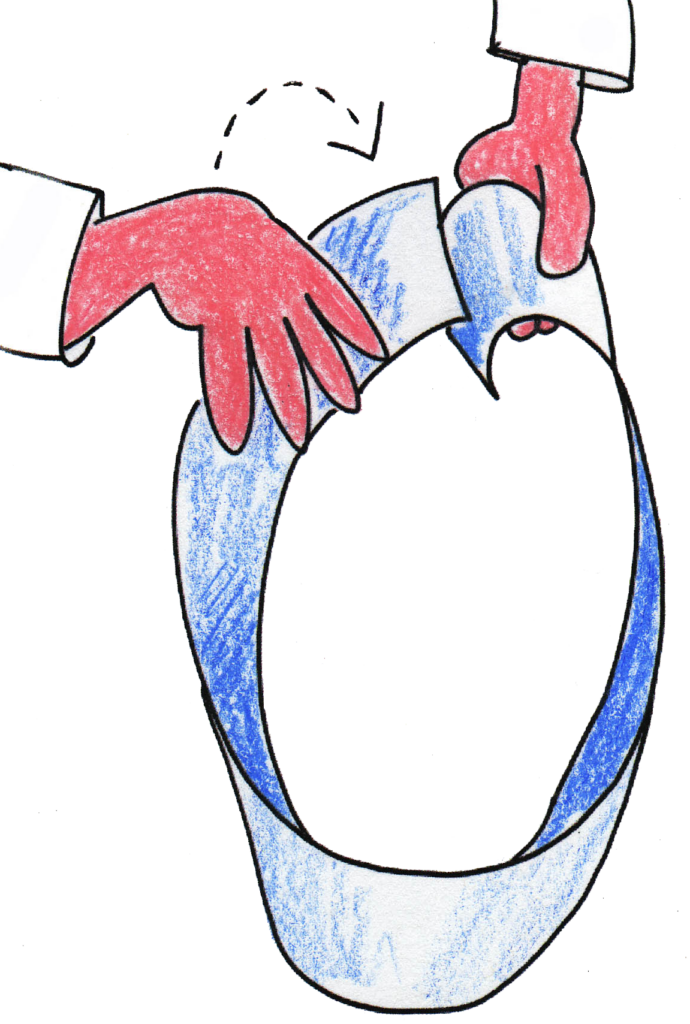 Möbius String with one twist