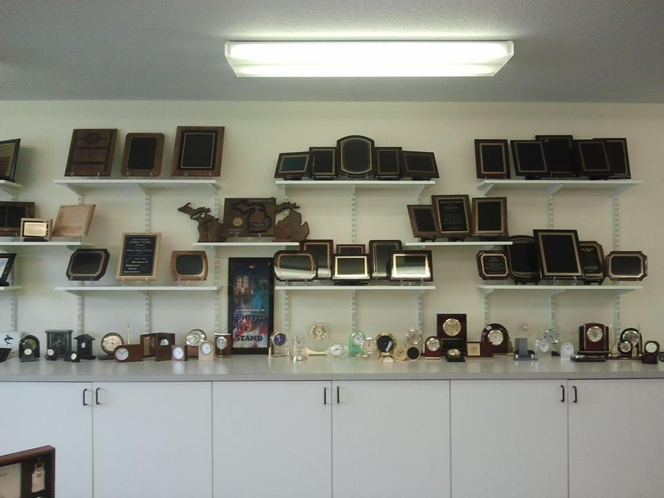 Top Shelf plaques and clocks