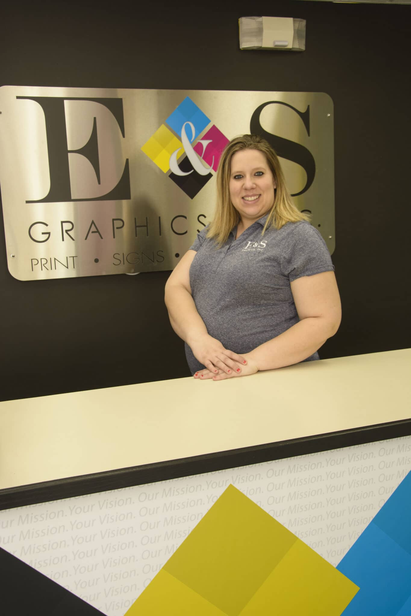 Brittney Bushre, Print Production Specialist, E & S Graphics