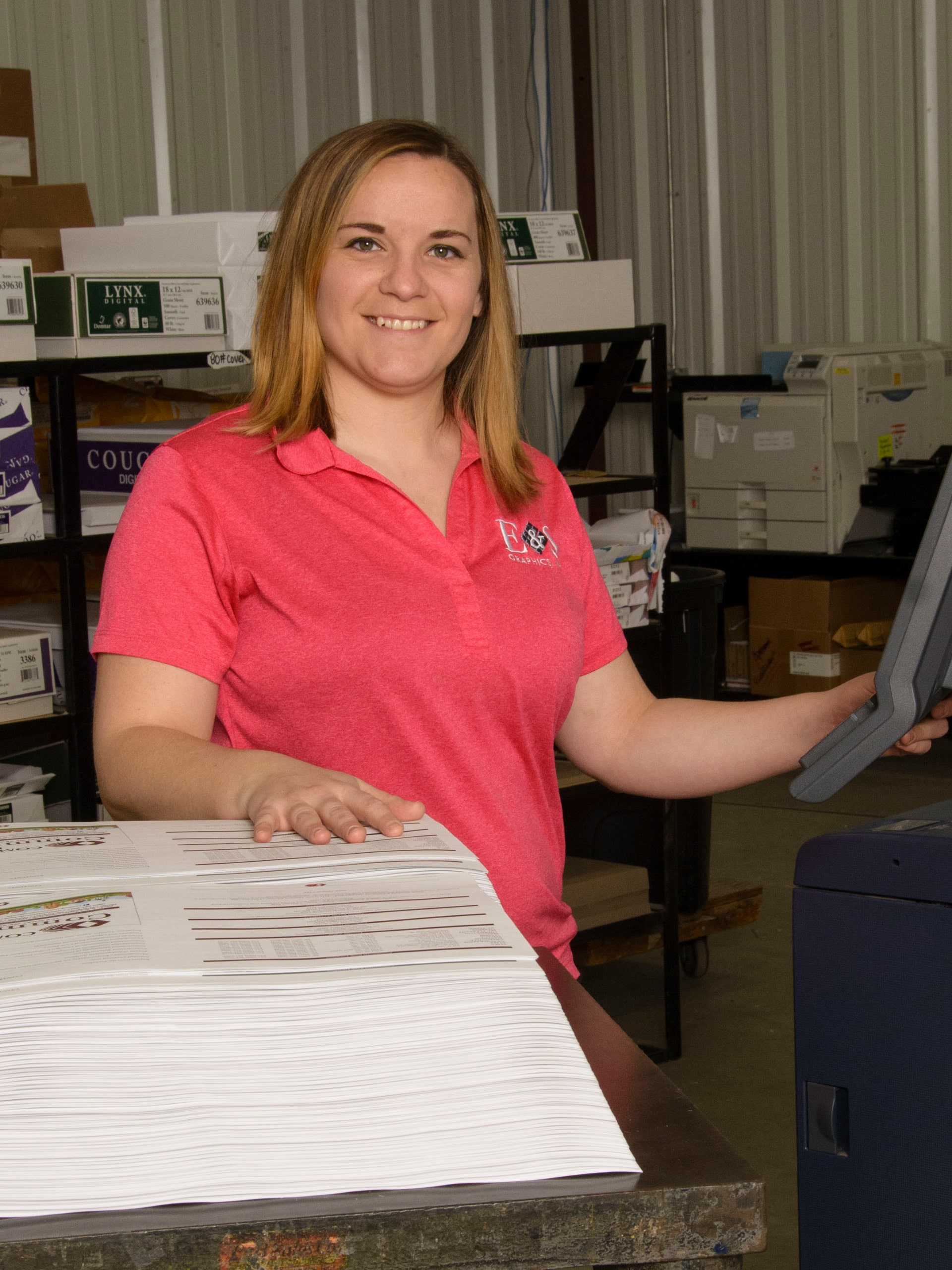 Kaylyn Hooks, Print Production Manager, E & S Graphics