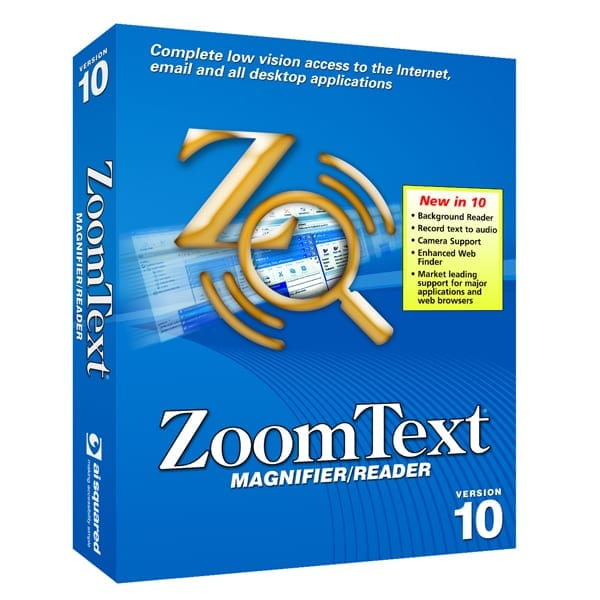 ZoomText Magnifier Reader Version 10 Product Box