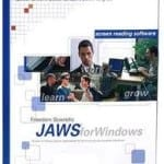 The JAWS for Windows Screenreader product box.