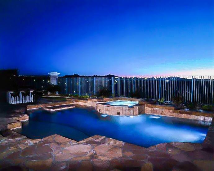 pool vegas night