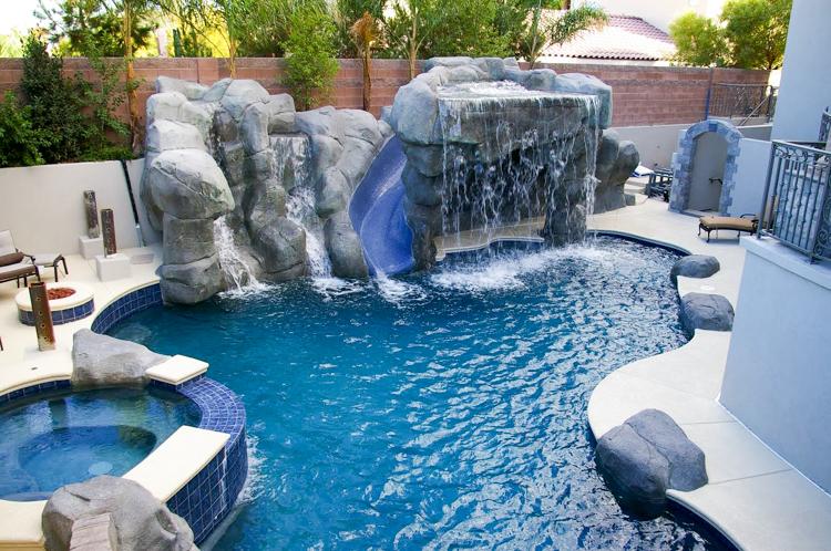 vegas waterfall builder