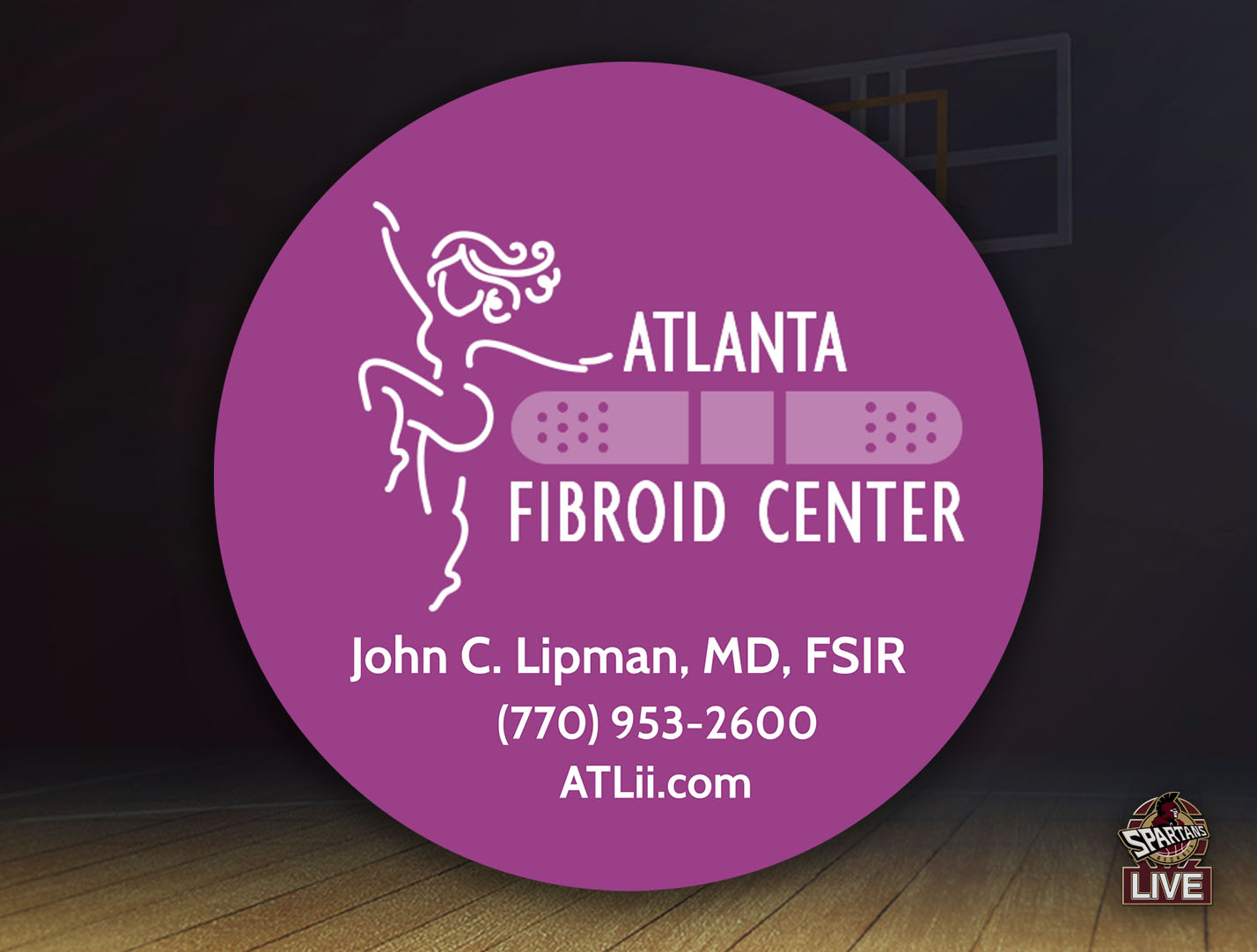 Atlanta Fibroid Center Georgia Spartans Team Sponsor