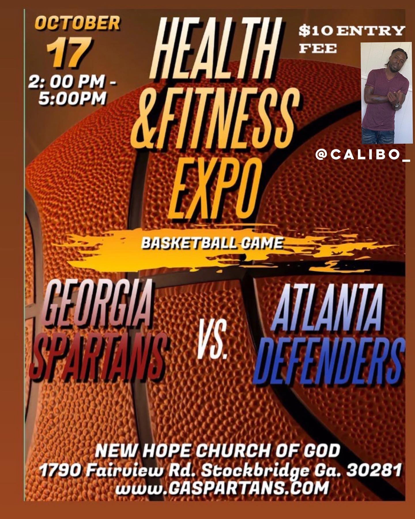@calibo__ will be hosting on Oct. 17 2pm to 5pm Health&Fitness Expo Basketball Game. New Hope Church of God 1790 Fairview Rd. St