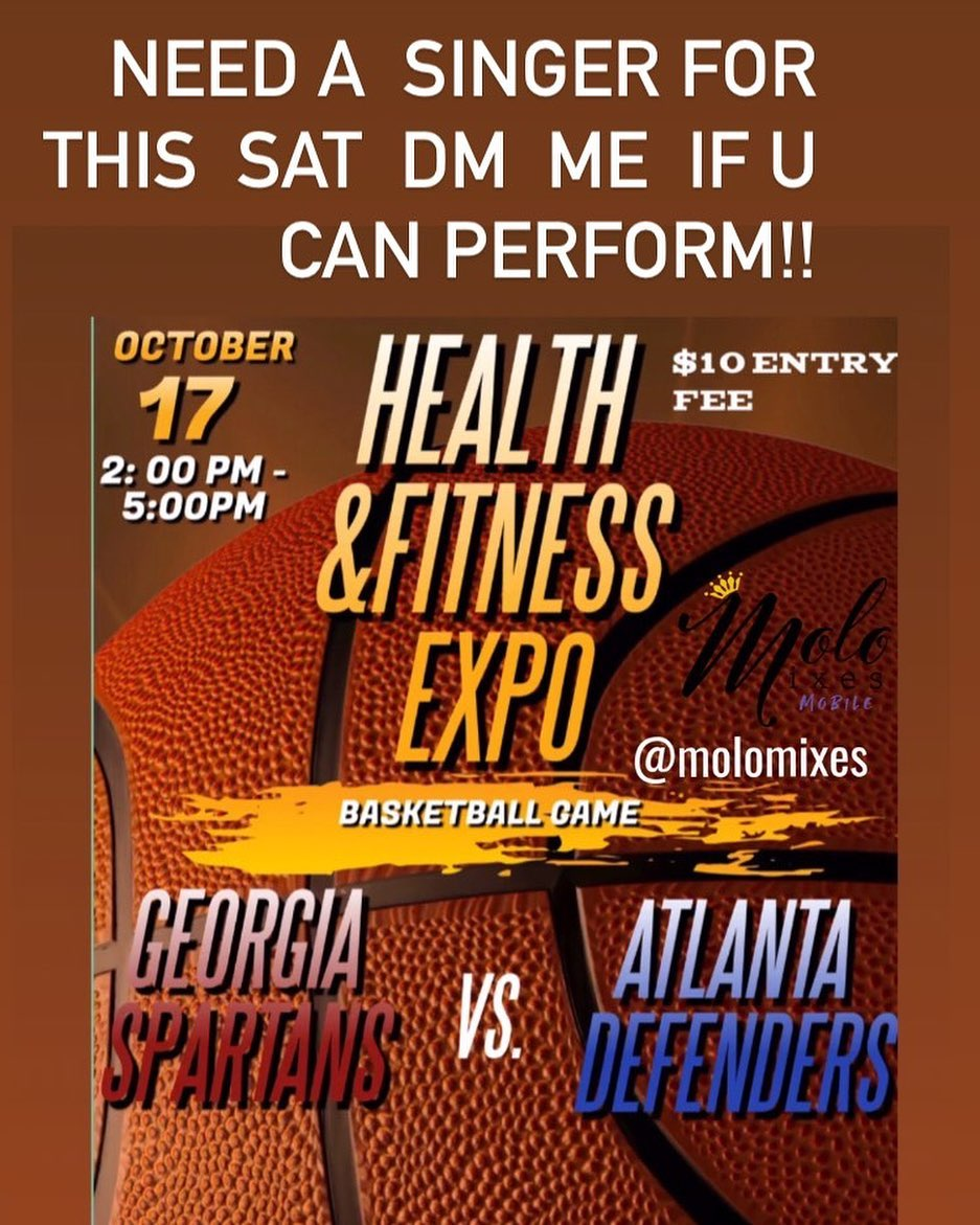 Looking for artists to perform Sat on Oct. 17 2pm to 5pm Health&Fitness Expo Basketball Game. New Hope Church of God 1790 Fairvi