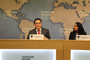 Harris Speaks at Chatham House in London