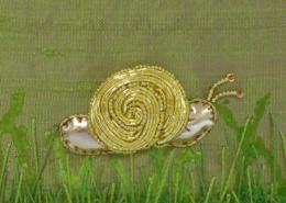 Goldwork Snail ©Susan Sasnett