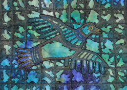 Blue Green Flying Bird ©Susan Sasnett