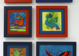 Bird & Bug Framed Display ©Susan Sasnett