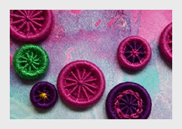 Dorset Crosswheel Buttons by Gail Harker