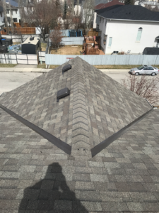top view of new roof house