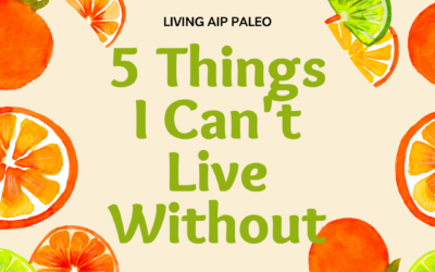 Five Things I Can't Live Without on Living AIP Paleo