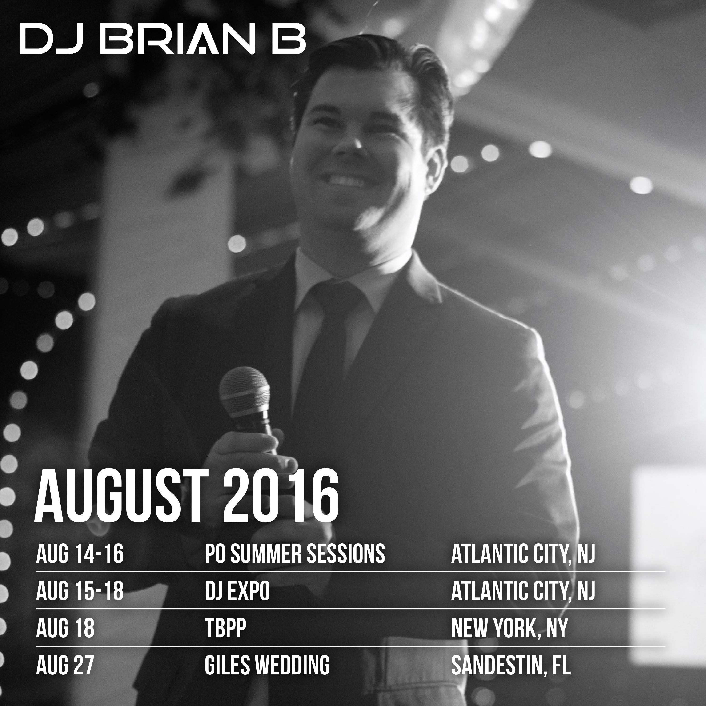 DJ Brian B Official Schedule
