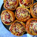 A plate of delicious beef pinwheels