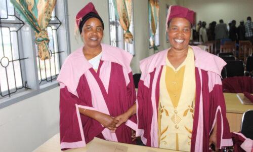 Councilors Aziza Kinuda and Debora Ituka