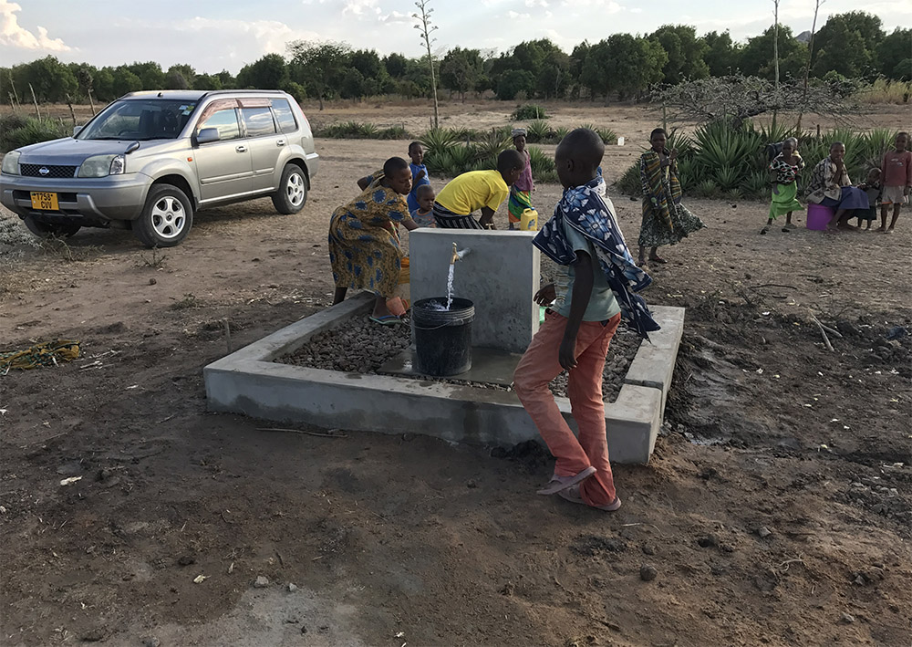 This new deep water well was installed by Upepo. Children are no longer drinking brown water and cholera is thing of the past.