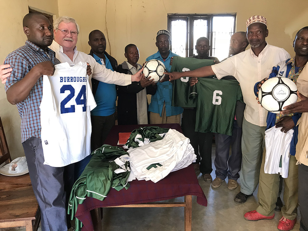It is not all work - Upepo donated soccer balls and uniforms for each of the eight villages on the wind farm site.