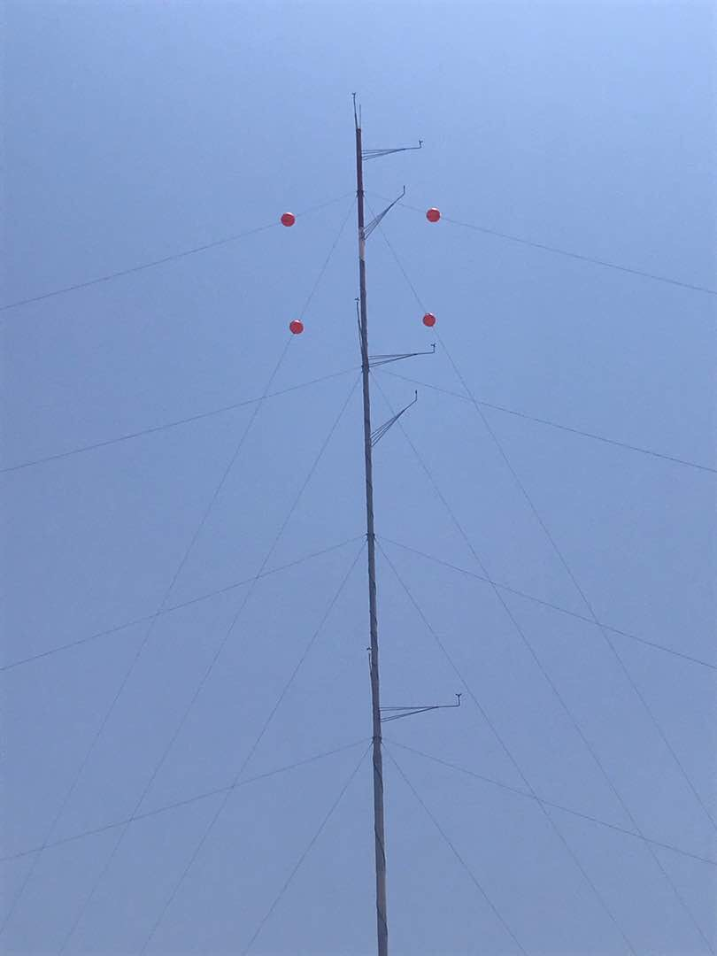 This is one of Upepo's three met masts that has been collecting wind data for multiple years at the Upepo Energy Center.