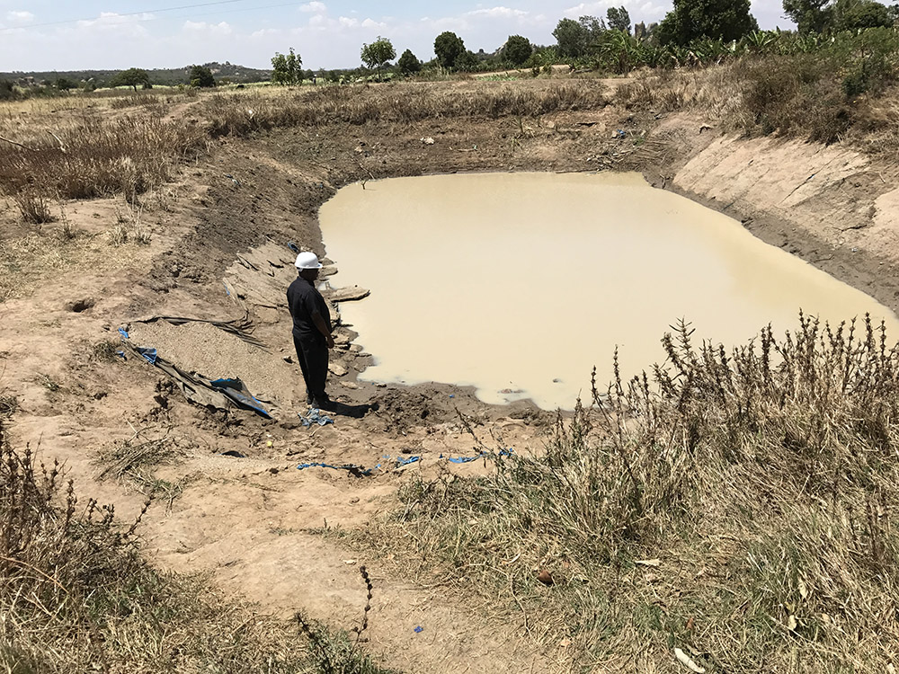 This shallow well was the water source for people and their livestock in Msiki, Tanzania on the project site.