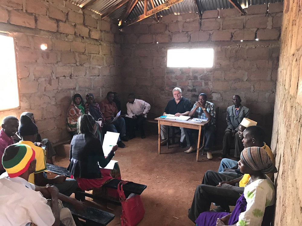 While the Village Assembly meetings are held outside because of the large numbers of attendees, the elected officials, the Village Council, meets in meeting rooms like this one.