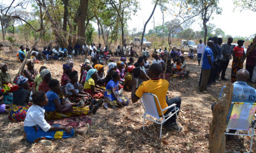 Masaiti villagers convene to discuss the wind farm with Upepo and the Chieftainess.
