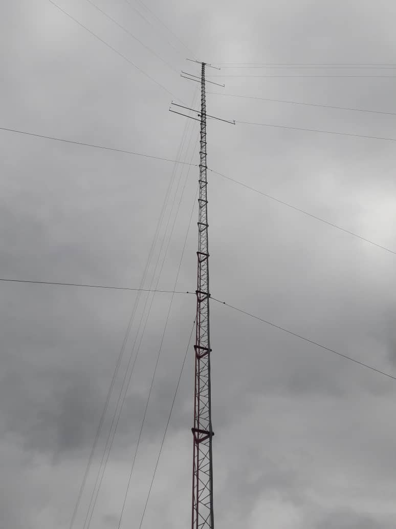 This is one of the two 80 meter met masts on site that were commissioned and began sending data in December of 2019