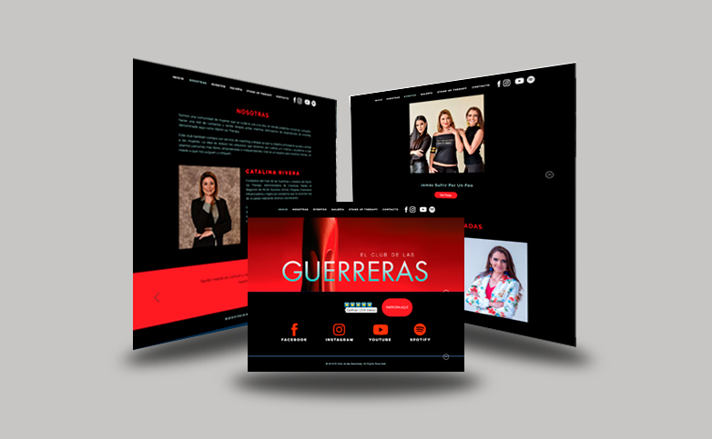 EL CLUB DE LAS GUERRERAS WEBSITE