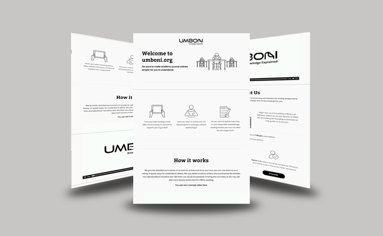 UMBONI WEBSITE