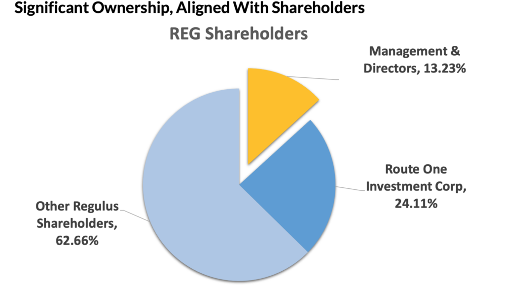 Regulus Resources Stock (TSXV:REG) - Ownership Structure