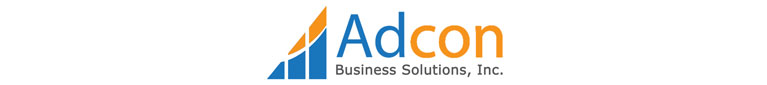 Orange and blue mobile logo for Adcon Business Solutions