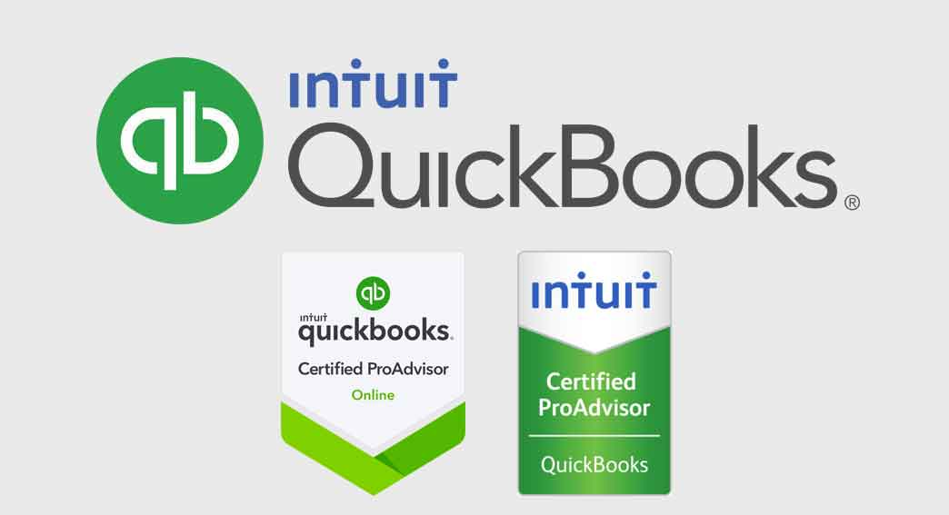 Intuit QuickBooks® Certified ProAdvisor desktop and online color logo on the Accounting Software page for Adcon Business Solutions