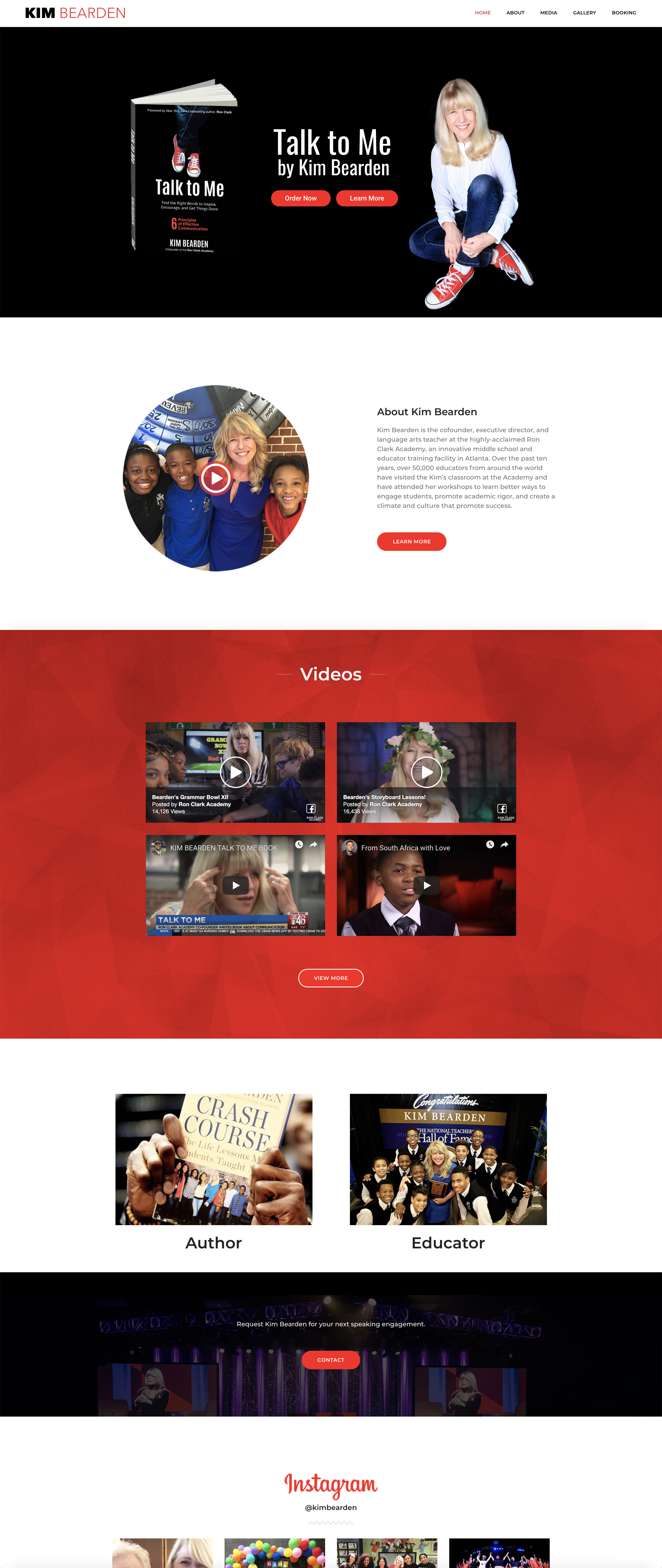 Web Design Layout Kim Bearden