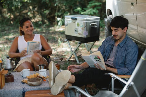 books and camping