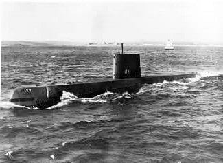 Nuclear Submarine cruising th Atlantic