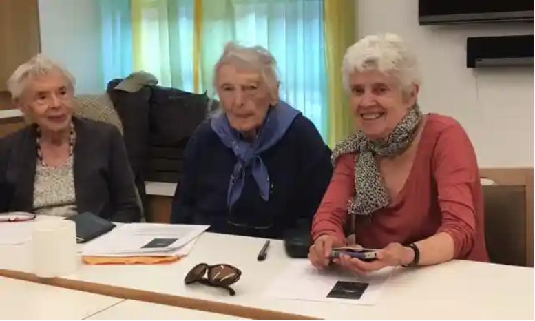 Three participants in the MRHS memoir writing program