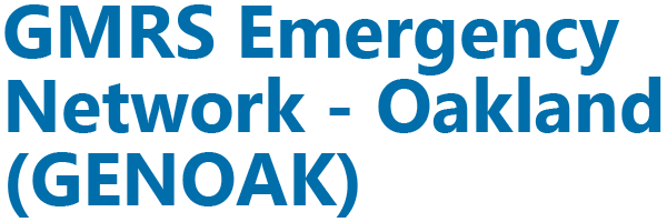 GMRS Emergency Network – Oakland (GENOAK)